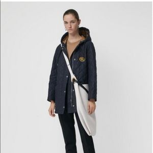 Burberry Diamond Quilted Hooded Oversized Parka
